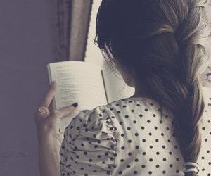book, girl, and hair image