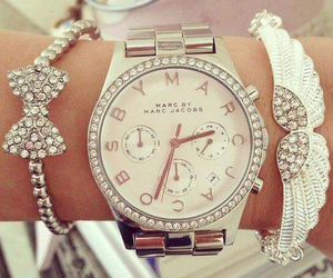 watch, white, and marc jacobs image