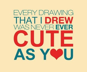 cute, quote, and drawing image