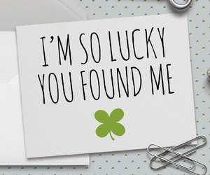 etsy, luck, and anniversary card image