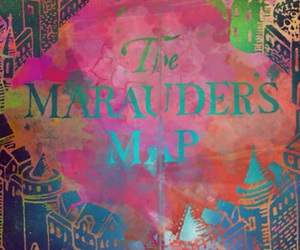 harry potter, marauders map, and wallpaper image