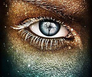 eye, eyes, and tree image