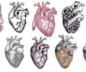 heart, art, and hearts image