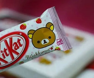 rilakkuma, kitkat, and chocolate image