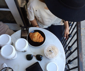 coffee, girl, and breakfast image