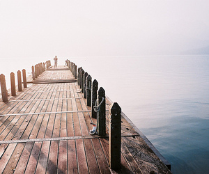 sea, photography, and bridge image