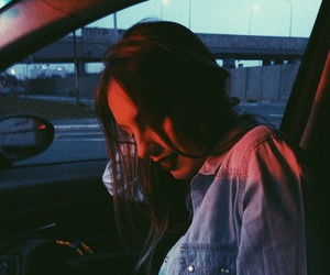 girl, grunge, and car image