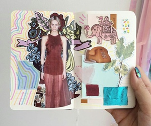 colors, diary, and journal image