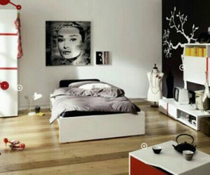 beautiful, bedroom, and black & white image