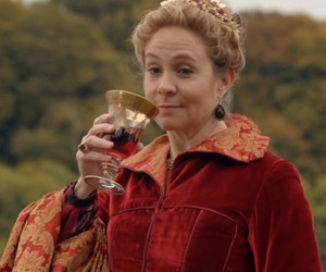 red dress, megan follows, and reign image