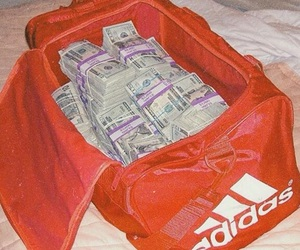 adidas, money, and red image