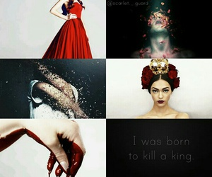 red queen, glass sword, and reina roja image