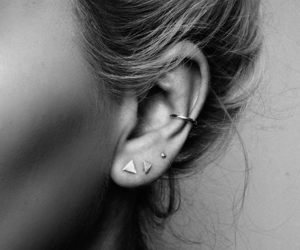 black & white, minimalist, and piercing image