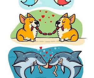 love, dog, and bird image