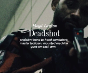 background, deadshot, and suicide squad image