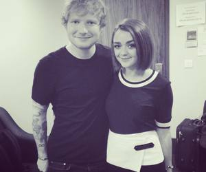 ed sheeran, maisie williams, and game of thrones image