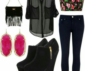 outfit, bag, and clothes image