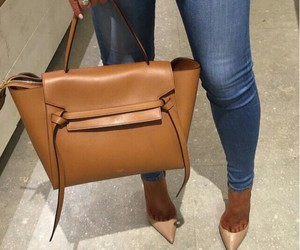 bag, shoes, and jeans image