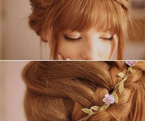 fashion, flower, and hair do image