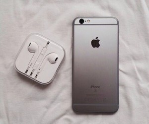iphone, apple, and silver image