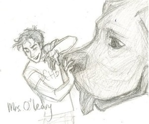 percy jackson and mrs o'leary image