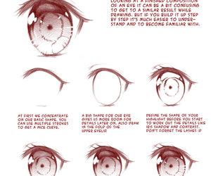 drawing, eyes, and manga image