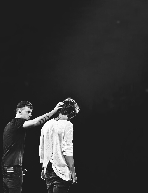black and white, liam payne, and niall horan image