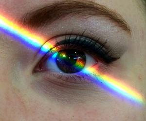 rainbow, beautiful, and eye image