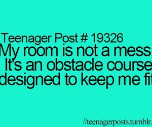 mess and teenager post image
