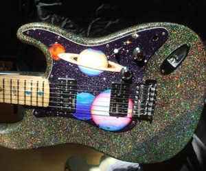 guitar, grunge, and planet image