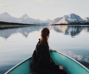 girl, mountains, and travel image