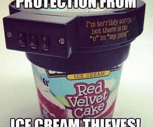 ice cream, protection, and thief image