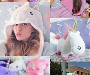 unicorn, pink, and arianagrande image