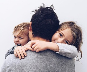 family, dad, and kids image