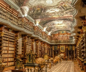 library, book, and prague image