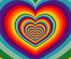 heart, gif, and rainbow image