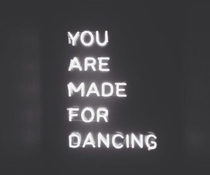 black, dance, and words image