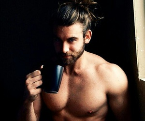 abs, coffee, and sexy image