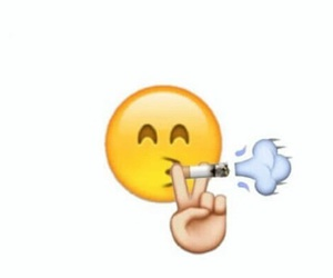 emoji, smoke, and cool image