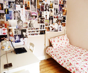 bedroom, floral, and posters image