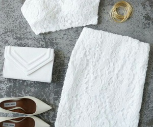 gold bangles, white, and white clutch image