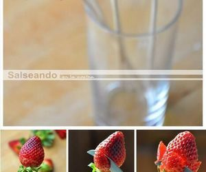 strawberry, diy, and rose image