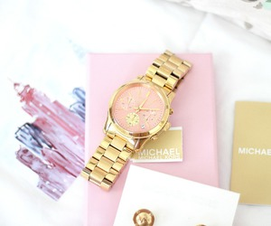 mk, pink, and watch image