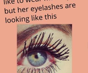 eyelashes, fake, and friend image