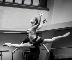 ballerina, black and white, and pointe image