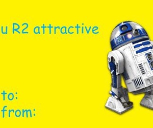 r2d2, star wars, and Valentine's Day image