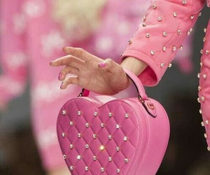 pink, Moschino, and heart image
