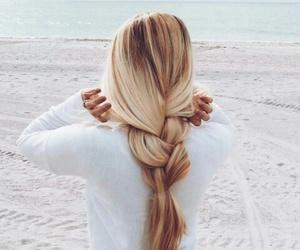 beach, hair, and fashon image