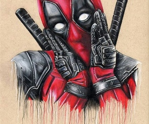 deadpool, draw, and color image