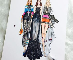 drawings, fashion, and illustration image